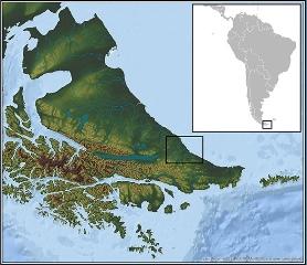 La Estancia María Luisa se encuentra en el centro-este de la Isla de Tierra del Fuego, Argentina.